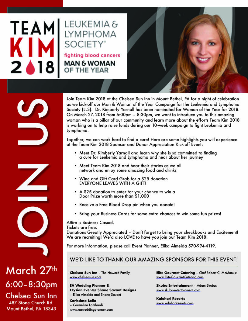 Team Kim 2018 - Leukemia & Lymphoma Society Man & Woman of the Year